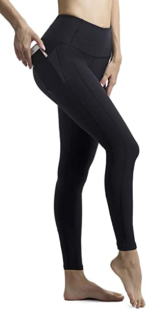AFITNE Womens High Waist Yoga Pants with Pockets, Tummy Control Workout Running 4 Way Stretch Yoga Leggings