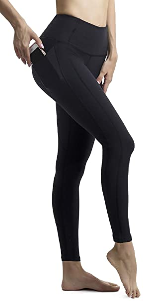 33f7e0af8f194 Amazon.com: AFITNE Women's High Waist Yoga Pants with Pockets, Tummy ...
