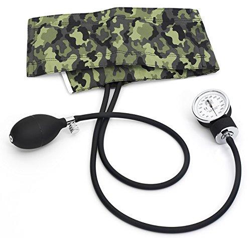 Prestige Medical S82-CMG Premium Adult Aneroid Sphygmomanometer, Camouflage Green (Blood Pressure Cuff Camo)