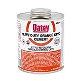 Oatey 31083 CPVC Heavy Duty Orange Cement, 32-Ounce
