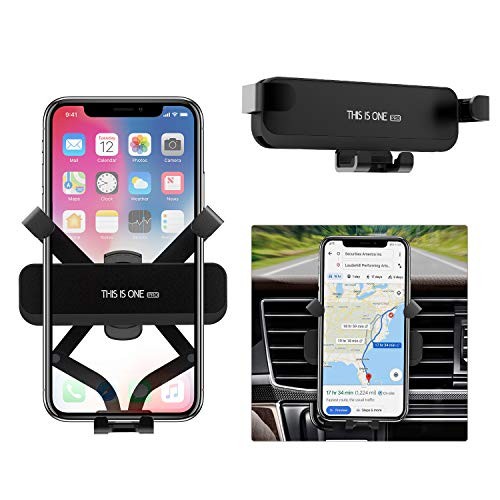 Phone Holder for Car, [2019 Updated Version] ICHECKEY Gravity Car Mount Automatic Locking Universal Cell Phone Holder for iPhone Xs Max/XR/XS/X, Samsung, OnePlus, Google, LG, Moto, 4.0