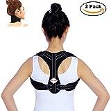Back posture corrector for women and men, comfortable fully adjustable Support Back Shoulder Belt and neck brace heated Tourmaline Magnetic nuu you