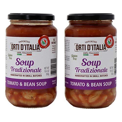 Orti DItalia Soup Tradizionale Tomato and Bean Soup, 2 pack, 19.4 OZ