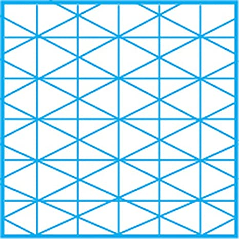 10005416 11 x 17 In. Clearprint 1000H Design Vellum Pad with Printed Fade-Out 30-Degree Isometric Grid Translucent White 100/% Cotton 50 Sheets