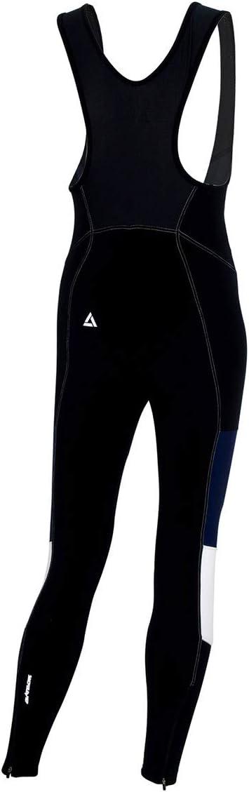 Tirantes Pantalones largos t/érmicos de ciclismo con tirantes Pro Pantalones largos Acolchado 3D Coolmax Transpirable BIB Reflectores Airtracks