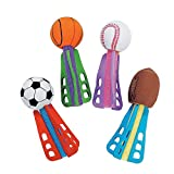Fun Express Foam Mini Sport Ball Missiles Toy - 24 Pieces