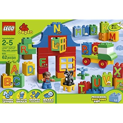 LEGO DUPLO Play with Letters 6051: Toys & Games