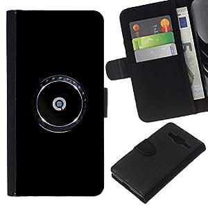 Stuss Case / Funda Carcasa PU de Cuero - Reg¨ªstrate Marca minimalista de Chrome - Samsung Galaxy Core Prime
