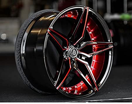 "20 Inch Rims Racing Wheels for Challenger Made for MAX Performance - MQ 3259 20x9/"" Black and Red Rines Para Carros - Camaro - FULL Set of 4 Wheels BMW and More Mustang"