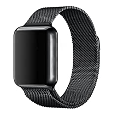 AIDOUT Apple Watch Band - 42mm Milanese Loop Stainless Steel Bracelet Strap Magnetic Closure Clasp - Replacement Wrist Band for iWatch Series 1 Series 2 Sport & Edition