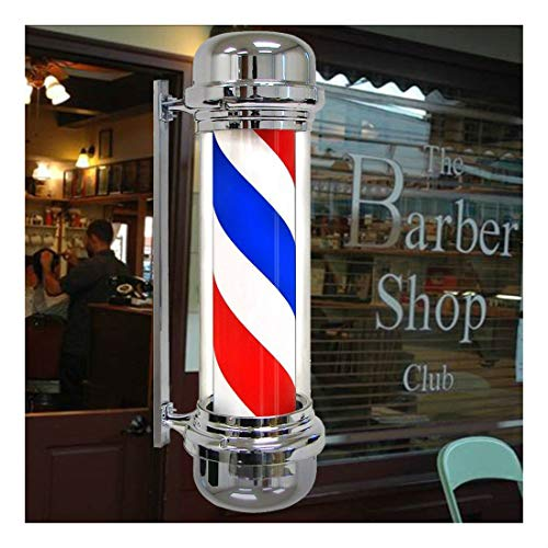 Barber Shop Pole Red White Bule Rotating LED Light Sign Hair ()