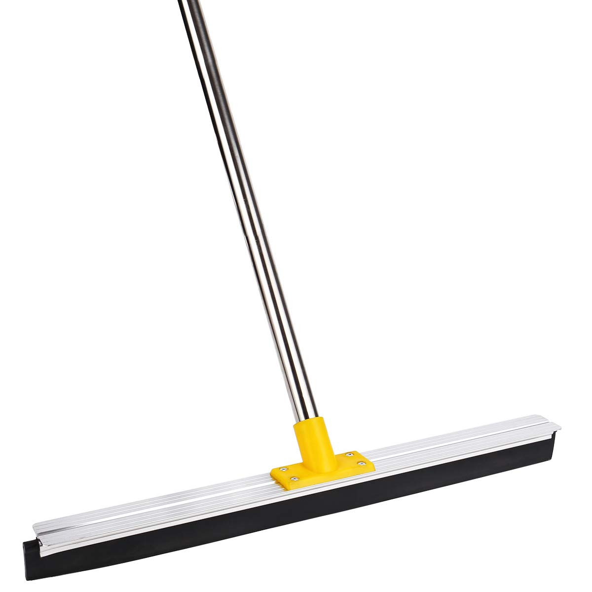 Commercial Heavy Duty Floor Squeegee, YCUTE 23'' Rubber Blade, 50'' Stainless Steel Long Handle Perfect for Washing & Drying Tile Glass Marble and Wood Surfaces