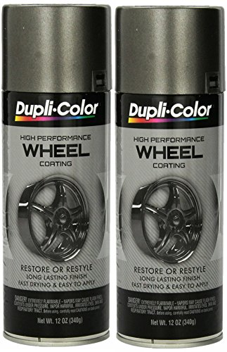 Dupli-Color HWP102 Graphite High Performance Wheel coating - 12 oz (2 PACK) (Dupli Color Wheel Coating)