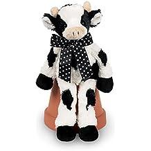 "Bearington Lean Beans Bossy Long Legged Cow, Plush Stuffed Animal Toy 14"""