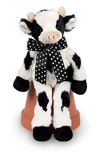 White Plush Cow - Bearington Lean Beans Bossy Long Legged Cow, Plush Stuffed Animal Toy 14