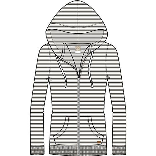 - Roxy Junior's Trippin Zip up Fleece Sweatshirt, True Black Thin Stripes, L