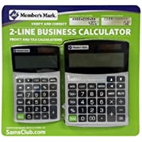Members Mark 2 - Line Business Calculator (Grey)