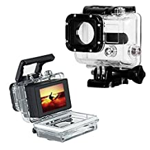 XCSOURCE Waterproof Back Door For Gopro Hero 3 Bacpac Touch Panel LCD Screen OS70