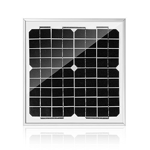 ACOPOWER HY010-12M Mono Solar Panel for 12V Battery Charging RV Boat, Off Grid, (Solar Module Efficiency)