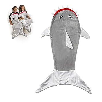 Comtervi Sirena Cola de Techo, Doble de Forro Polar de tiburón de Saco de Dormir
