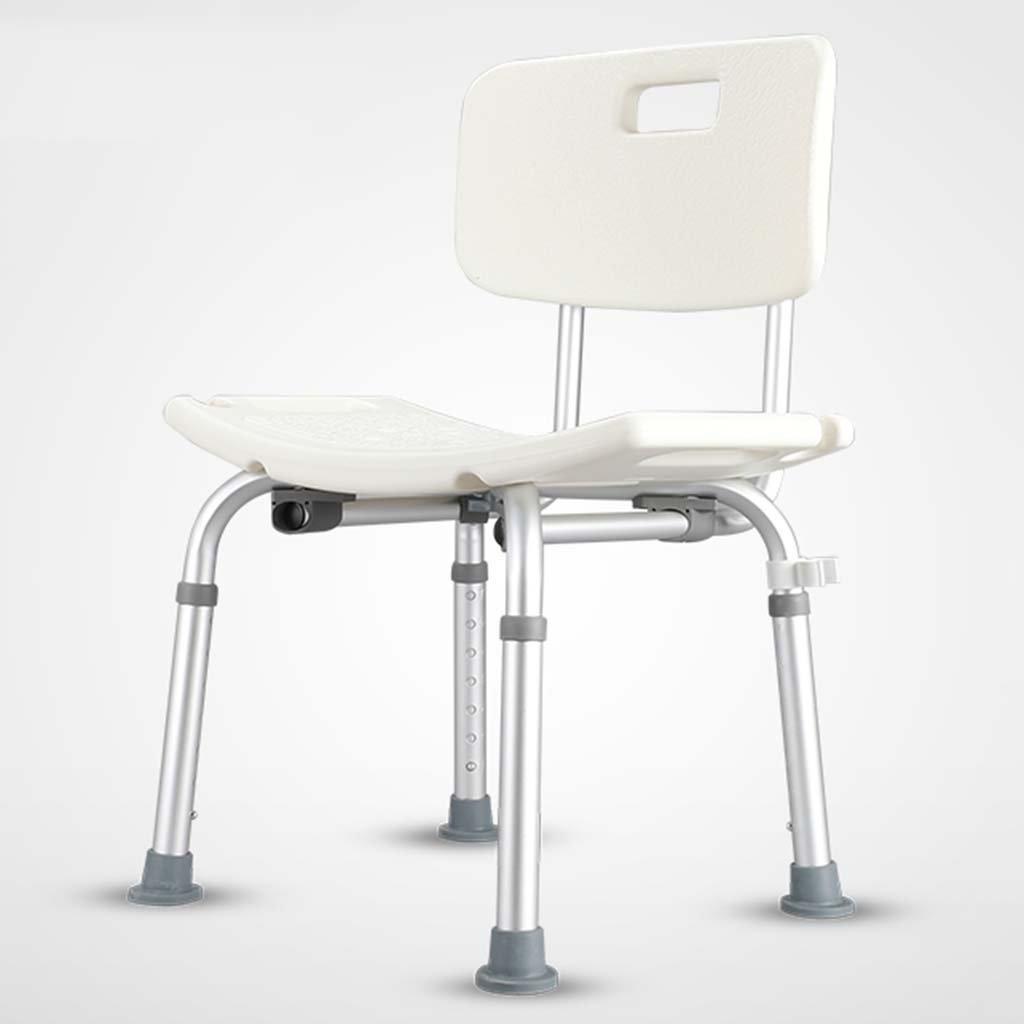 ERRU- シャワーチェア シャワーの椅子障害のある高齢の妊婦アルミニウム合金の高さ調整可能な滑り止めバススツール(45 * 40 * 82cm)   B078RYJ52X