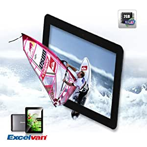 """Excelvan ET1001 10.1"""" Google Android 4.1 Jelly Bean Tablet PC IPS Quad Core 1GHz 2GB RAM DDR3 8GB ROM ,WIFI, Dual Camera, Support HDMI"""