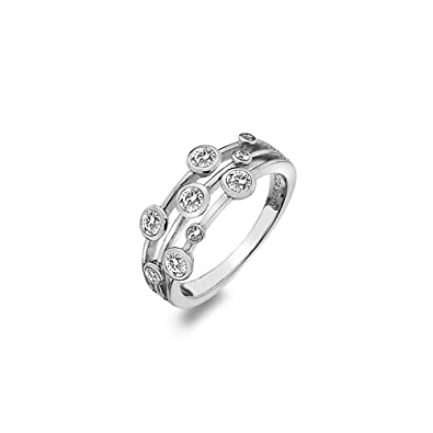 b20d68b5f Hot Diamonds White Topaz Tender Statement Ring DR207/K: Amazon.co.uk ...