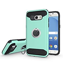 Galaxy A5(2017) Case,EVERGREENBUYING [Ring Series] Hybrid Dual Layer 2in1 SM-A520F Cases with 360 Degree Rotating Ring Grip Holder kickstand Cover For Samsung GALAXY A5 (2017 Release) Green