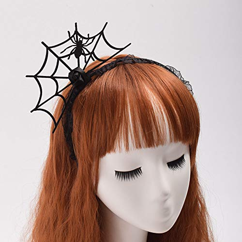 (Halloween Fancy Dress Spider Hairpin Party Costume Spider Web Hair Clip)