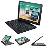 iPad pro 12.9 case with Keyboard 2017 and 2015 - Lenrich 360 Degree Rotatable 12.9 inch ipad pro Wireless Bluetooth Keyboard stand for ipad pro 12.9 inch 2017 2nd Gen cover Auto Sleep Wake up(Black)