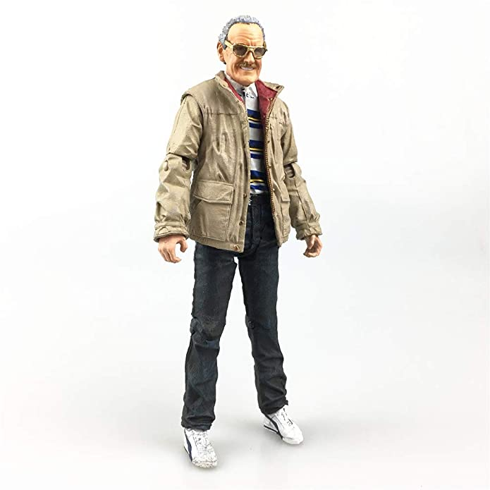 Stan Lee Action Figure Head /& Glasses /& Body /& Base 1//12 1:12 Moedl Doll Status
