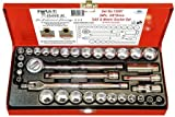 34Pc. 3/8''Dr. 6 Point SAE/Metric Socket Set