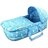 Olpchee Portable Baby Carrycot Baby Travel Bed Crib...