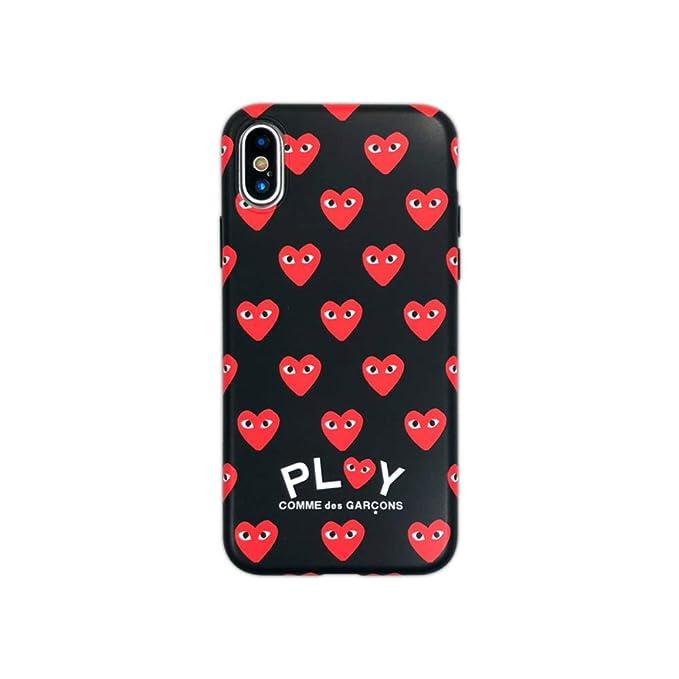 7870fd6d3af3b Amazon.com: Comme des Garcons Repeating Heart Logo iPhone X/iPhone ...