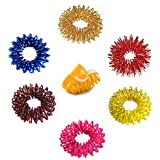 Acupressure Massage Sujok Ring in Assorted Colors Set of 6 pcs with Relexology charts and freebies