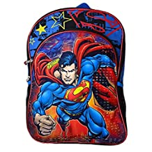 DC Comics Boys Backpack Superman Blue