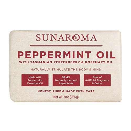 Sunaroma Peppermint Oil W/ Tasmanian Pepperberry and Alpine Rose Soap (8 Ounce)