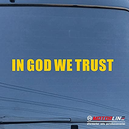 In God We Trust Decal Sticker USA American Car Vinyl pick size color