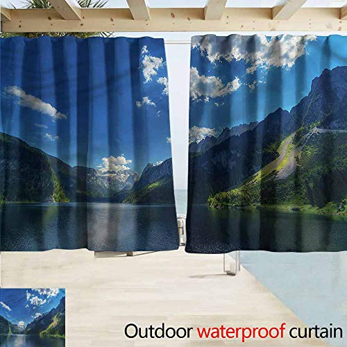Beihai1Sun Outdoor Blackout Curtains Landscape Alps Morning Cloudscape Energy Efficient, Darkening W55x39L Inches ()