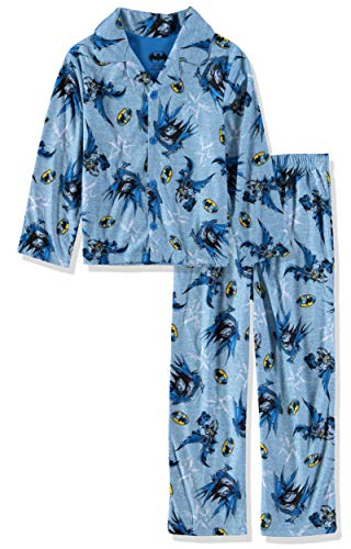 (DC Comics Boys' Batman 2-Piece Pajama Coat Set (4, Batman/Blue))