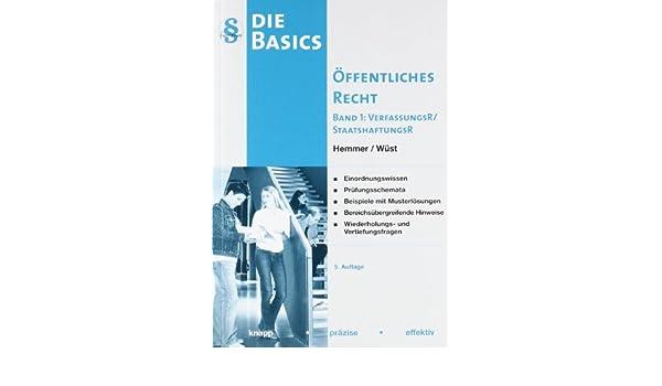 basics ffentliches recht band 1 9783861931003 amazoncom books - Offentliches Recht Beispiele