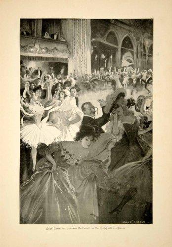 [1907 Print John Cameron Masked Ball Costume Dance London Festival Dress Women - Original Halftone] (Dance Costumes Ma)