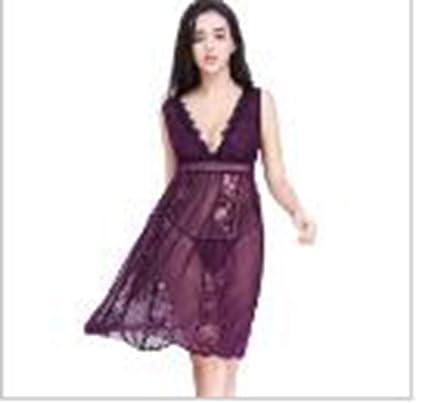 08da5269a4820 Amazon.com: NEW Arrived women deep-v sleepwear ladies sexy lace ...