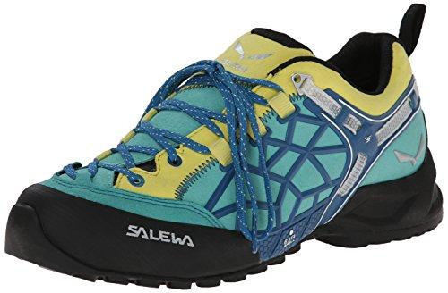 SALEWA Ws Wildfire Pro, Zapatillas de Deporte Exterior para Mujer Azul   (Bright Acqua / Reef 3524)