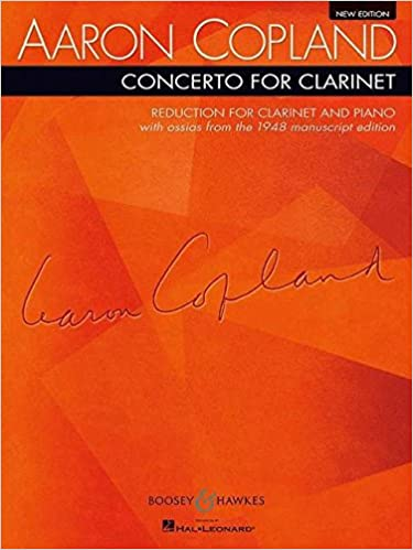 Reduction for Clarinet and Piano Clarinet and String Orchestra With Harp and Piano Concerto