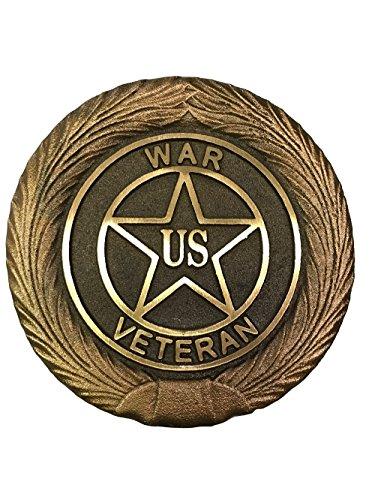 Universal War Bronze Grave Marker with Brass Ground Stake