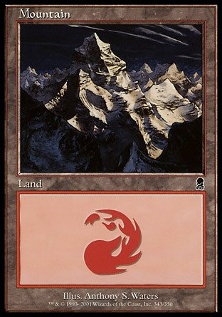Magic: the Gathering - Mountain (343) - Odyssey - (Gathering Odyssey Foil)