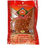 Hot Ground Dried Chili (Prik Pon) 100% From Natural Net Wt 100 G (3.53 Oz) Herbal Brand Nguan Soon X 5 Bags