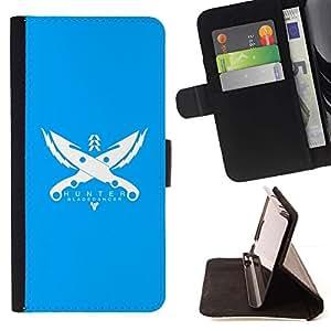Momo Phone Case / Flip Funda de Cuero Case Cover - Hunter;;;;;;;; - Samsung Galaxy J3 GSM-J300