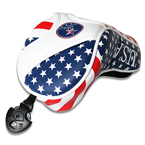 Craftsman Golf Stars & Stripes American USA US Flag Fairway Wood Headcover Head Cover Replacement For Titleist Taylormade Callaway Mizuno Cobra Ping Adams by Craftsman Golf (Image #2)